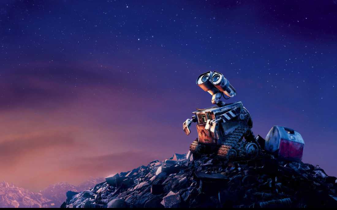 Wall E Looking The Stars