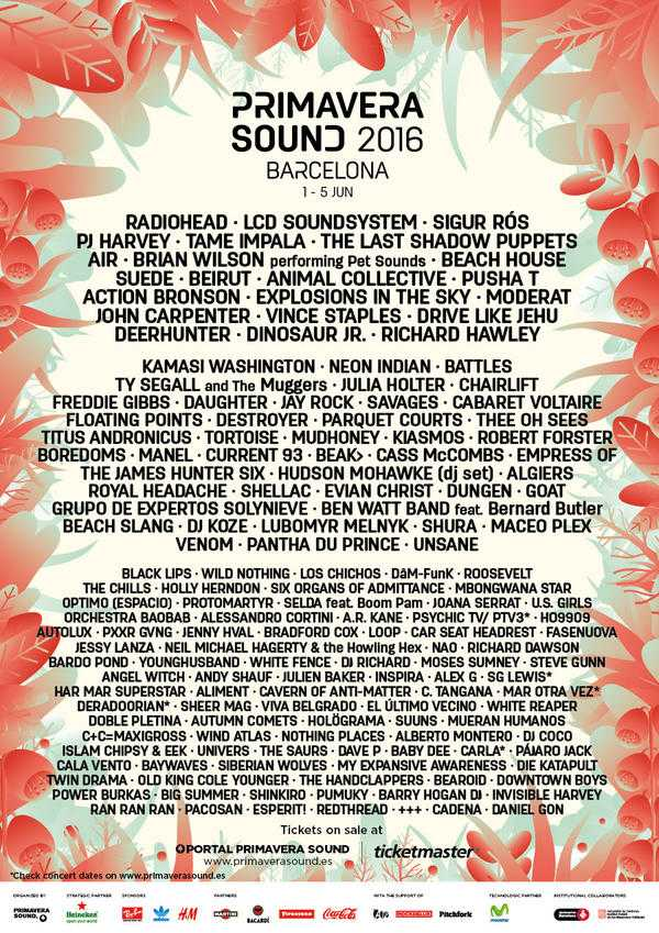 Primavera Sound 2016 Line-up