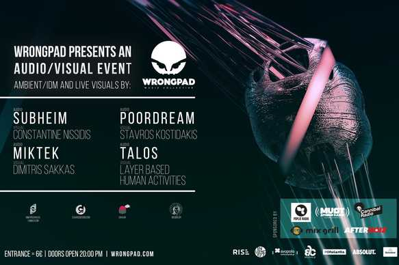 WRONGPAD Presents an AUDIO/VISUAL EVENT @ six d.o.g.s.