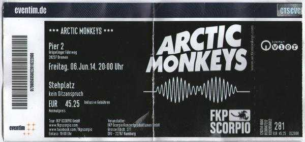 Arctic Monkeys Ticket