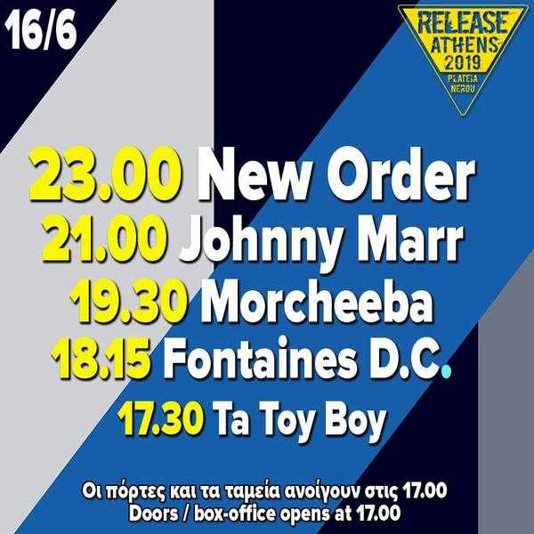New Order, Johnny Marr, Morcheeba