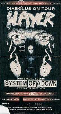 Slayer/System of a down