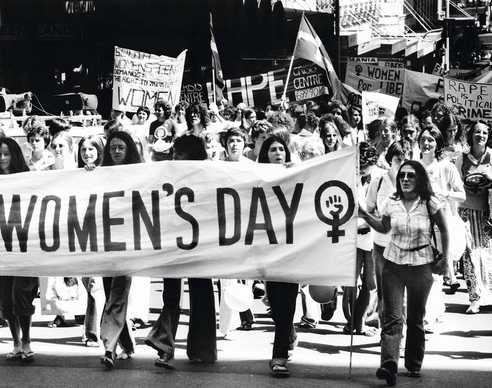 international womens day march
