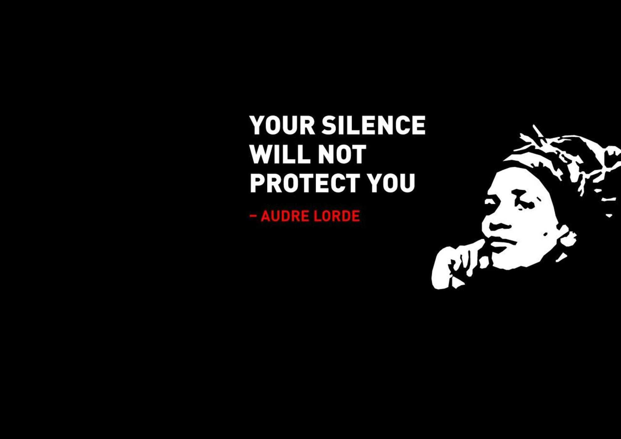 Audre Lorde your silence will not protect you - cover